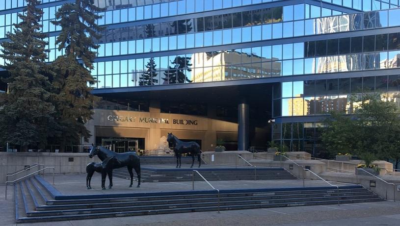 卡加利市政大樓結束進出限制。