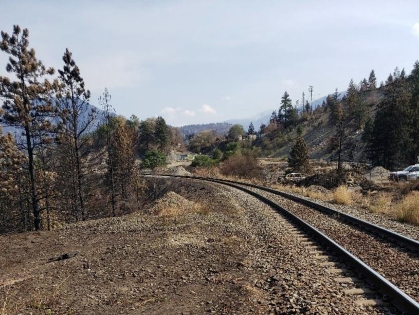 利頓小鎮附近的鐵路。TSB提供
