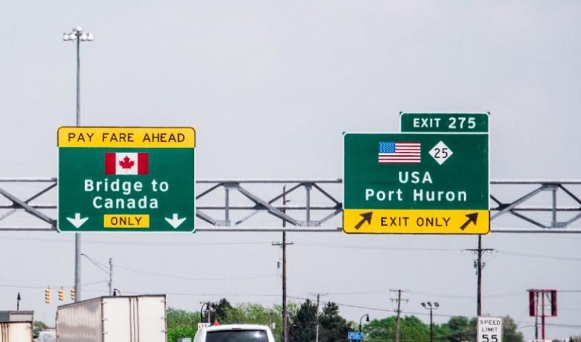 美國重開加美陸地邊境,附近市鎮各界期待與友鄰的重新往來。網上圖片
