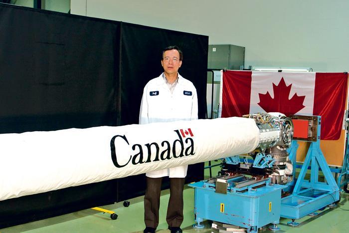 ■馮子葵參與研發的太空臂。受訪者提供