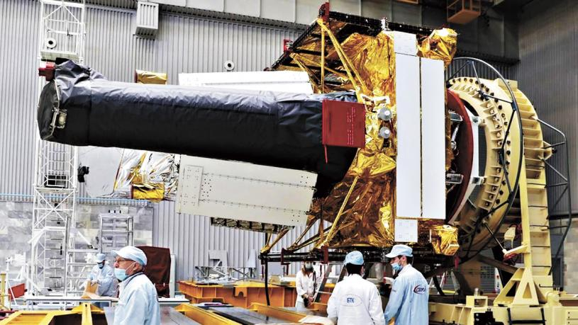 「光譜-RG」其中包含俄羅斯ART-XC望遠鏡與德國eROSITA望遠鏡。 路透社