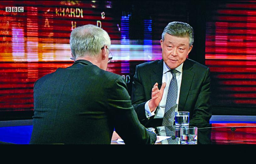 ■劉曉明表示,特首林鄭月娥「工作做得很好」。