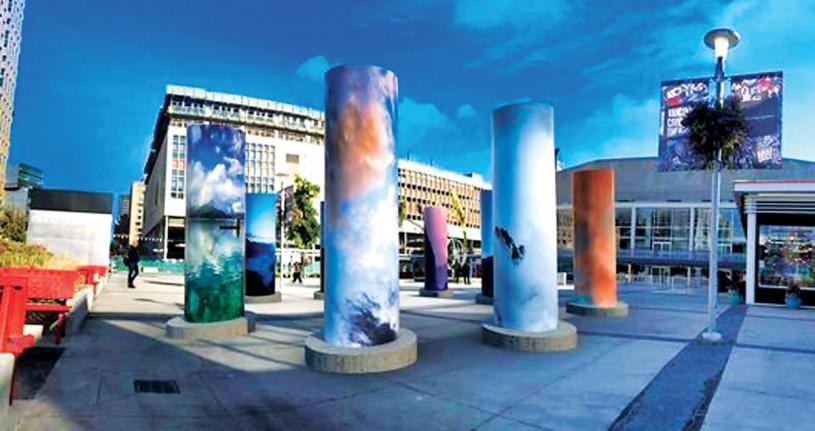 ■將於女皇劇院前廣場展出、題為「天空」的裝置藝術。網上圖片