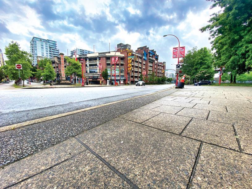 ■华埠大部分街道整洁如新。