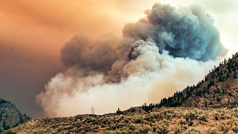 ■奧索尤斯附近山火仍處失控狀態。  CTV圖片
