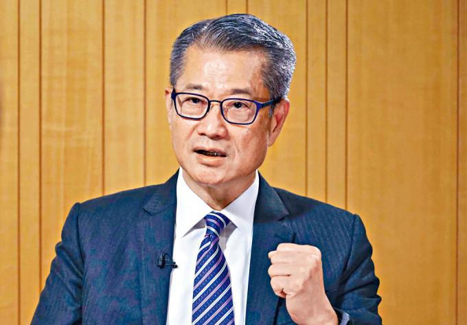 財政司司長陳茂波表示,香港有足夠土地以供發展。