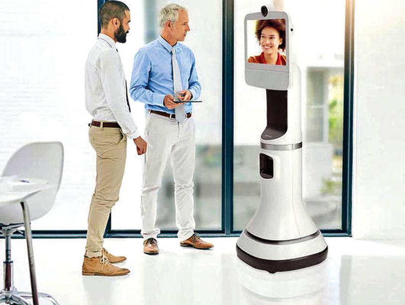 ■機械人進駐護理中心,增進親人間彼此探訪交流機會。網路圖片