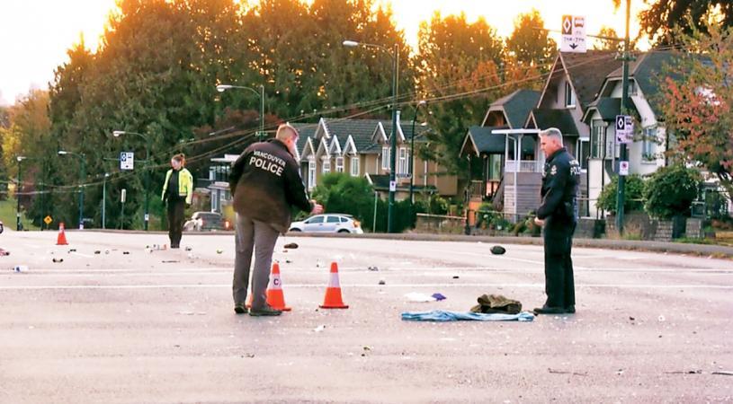 ■溫市發生撞人逃逸事件。  CTV