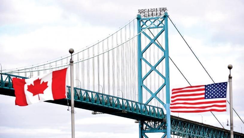 ■美國目前仍然關閉陸路邊境,禁止加拿大人入境進行非必要旅行。加通社資料圖片