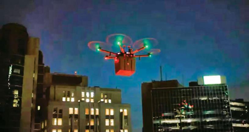 ■無人機從多倫多西區醫院到多倫多全科醫院的航程很短,大約只有6分鐘。CTV