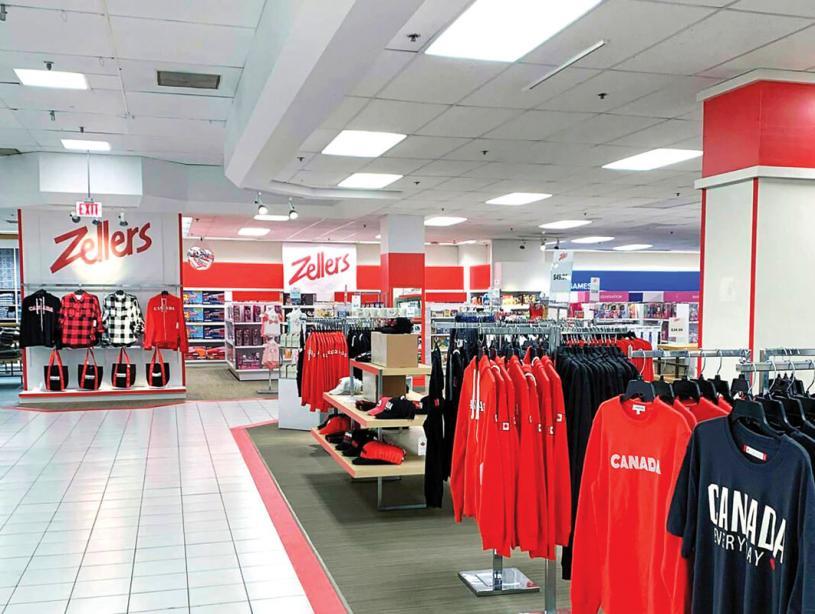 ■位於安省伯靈頓市海灣百貨公司內的Zellers新店已經開業。Hudson's Bay