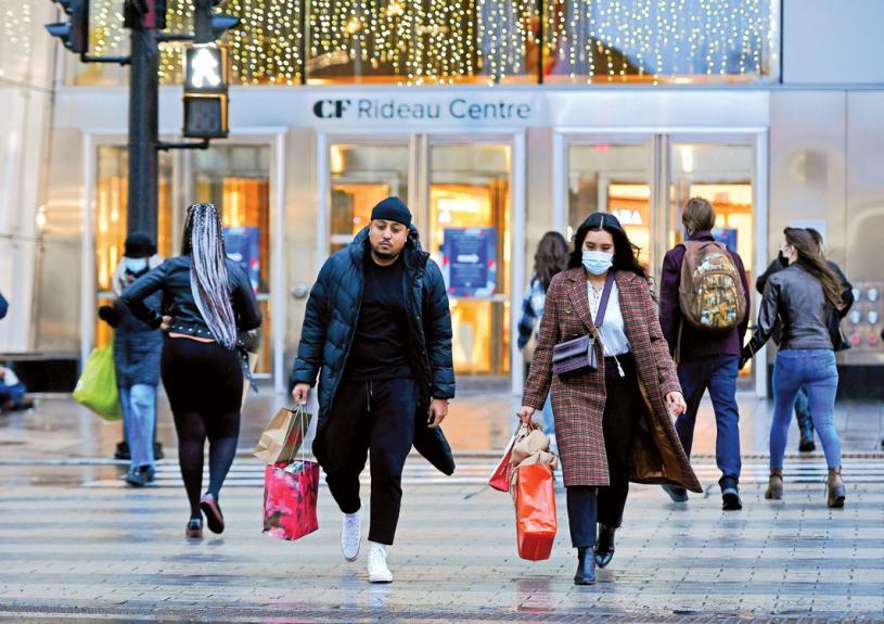 ■加人今年的聖誕消費,預料比去年增加29%。加通社資料圖片