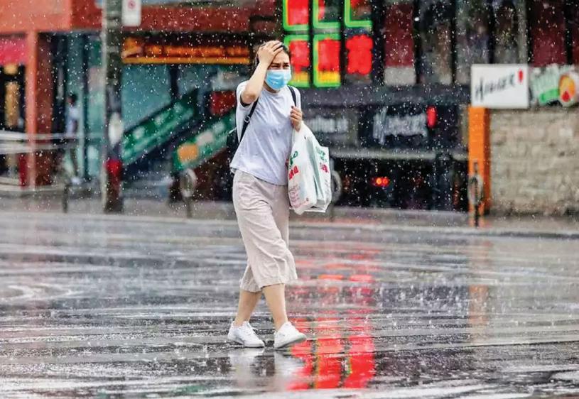 ■本周天氣預報隨時出現大雨和陣風。 資料圖片