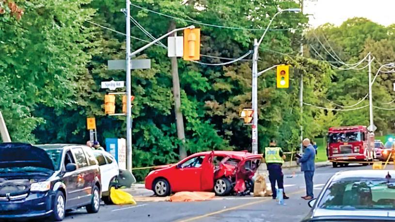 ■多倫多西區周二發生致命車禍。CBC