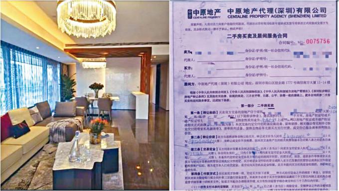 涉案的豪宅及有關的代理服務合同。