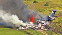 德州坠机起火 21人幸免于难