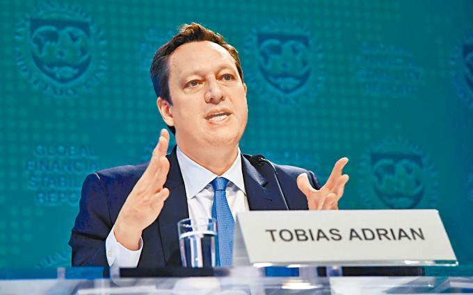 Tobias Adrian表示,相信中國政府有工具及施政空間,防範恒大風險蔓延。