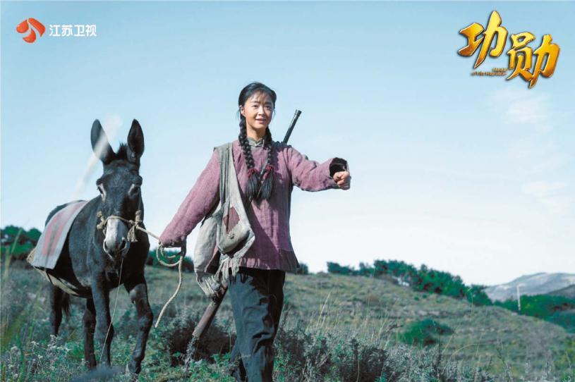 蔣欣為了演好村中婦女的角色,直 接曬黑5個度出鏡。 網上圖片